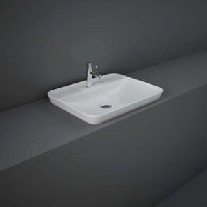 RAK Variant Rectangular Drop-In Wash Basin 55cm 1 Tap Hole