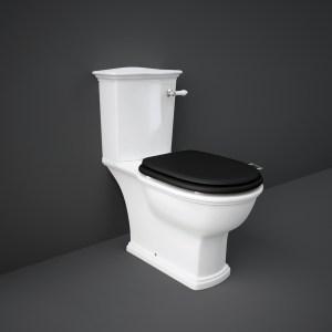 RAK Washington WC with Lever Handle & Matt Black Seat