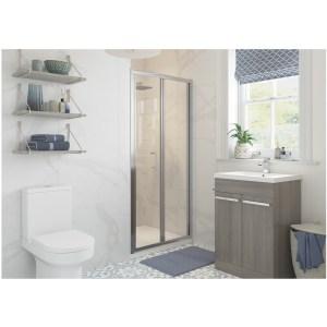 RefleXion Classix Framed 800mm Bi-Fold Shower Door