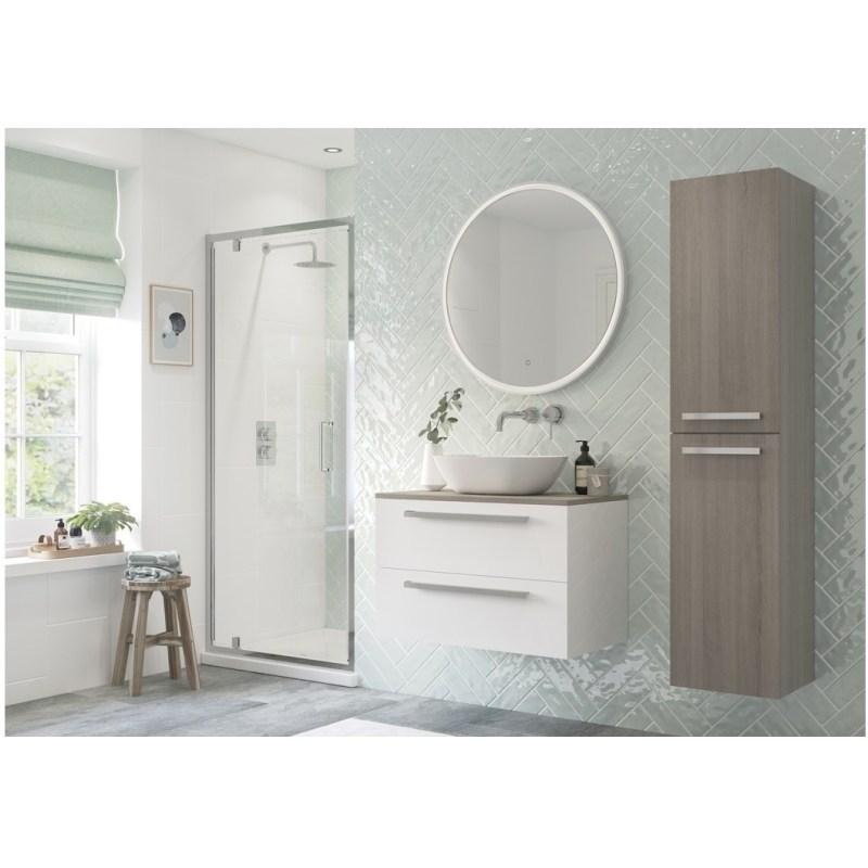 RefleXion Flex Framed 800mm Pivot Shower Door