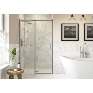RefleXion Iconix Semi-Framed Sliding Shower Door 1400mm