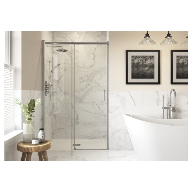 Reflexion Iconix Semi-Framed Sliding Shower Door 1500mm