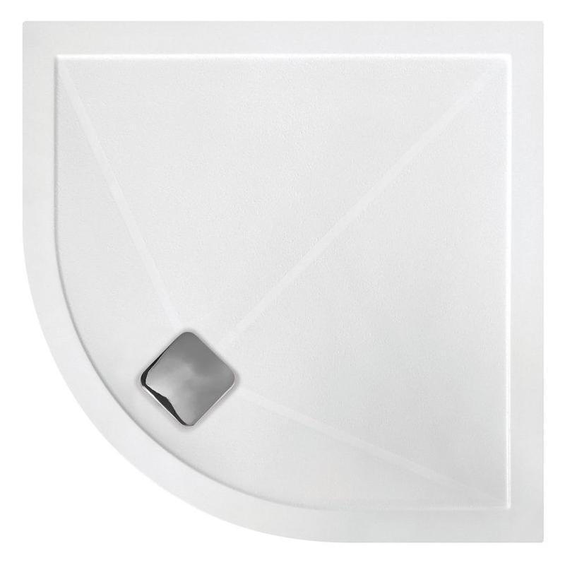 RefleXion Anti-Slip Ultra-Slim 1200x900mm Offset Quadrant Tray Left
