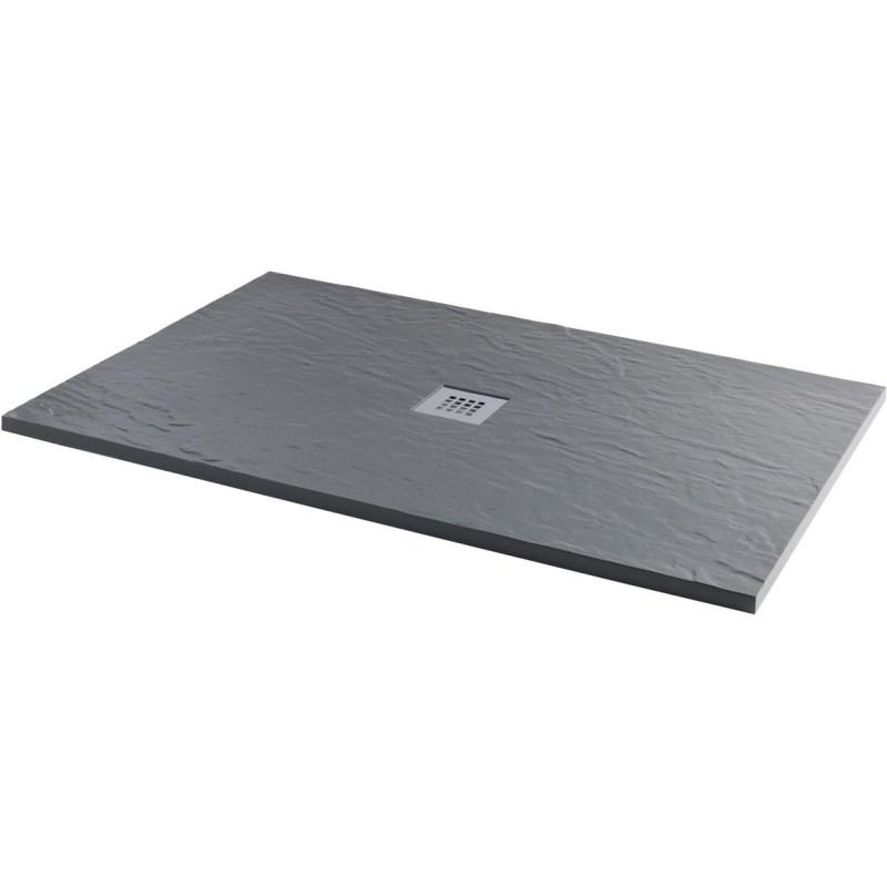 RefleXion 1700x750mm Slate Effect Ultra-Slim Shower Tray & Waste
