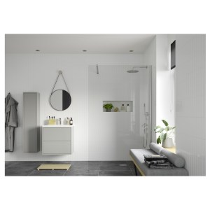 Reflexion Iconix Wetroom Panel & Support Bar 1100mm