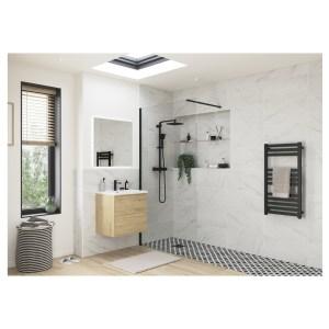 Reflexion Iconix Black Profile Wetroom Panel 1200mm