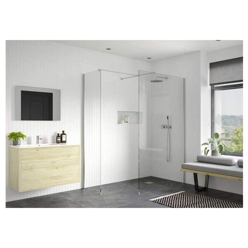 Reflexion Iconix Wetroom Panel & Support Bar 800mm