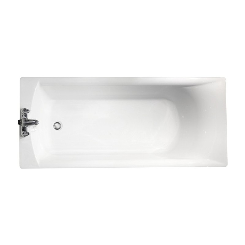 Roca Giralda Plain 1700x700mm Bath with Legs White
