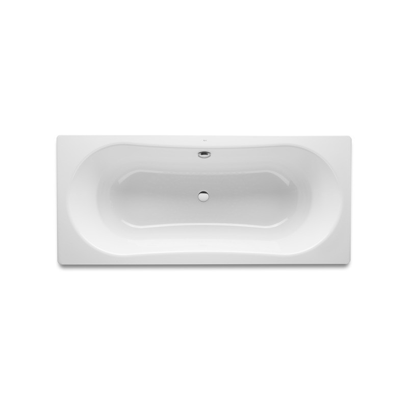 Roca Duo Plus Double Ended Steel Bath 1800 x 800mm Anti-Slip