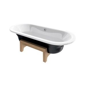 Roca Art Plus Bath 1800 x 800mm Anti Slip 0 Taphole Black