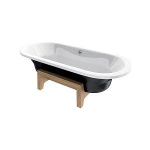 Roca Art Plus Bath 1800 x 800mm 0 Taphole Black