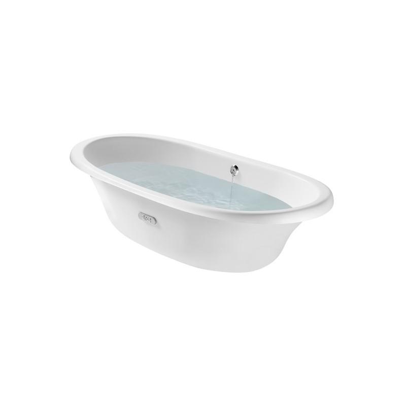 Roca Eliptico Free-Standing Cast Iron Bath 1700 x 850mm White