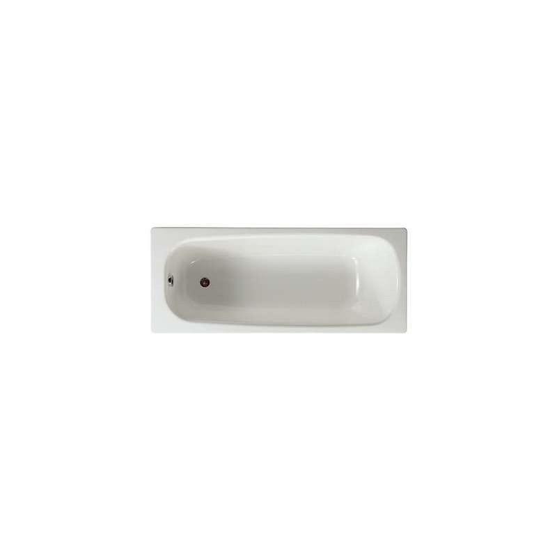 Roca Contesa Steel Bath 1500x700mm 2 Taphole No Grips Anti Slip
