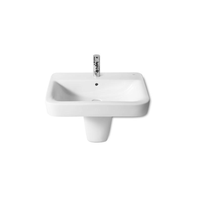 Roca Senso Square Vanity/Wall-Hung Basin 650 x 475mm 1 Taphole