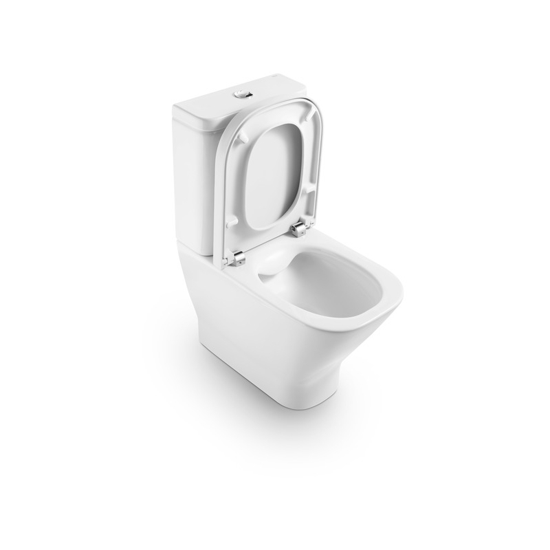 Roca The Gap Compact Rimless Back To Wall Toilet 4/2l with Standard Seat