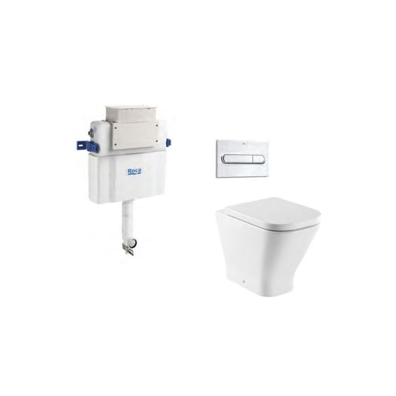 Roca The Gap Square Back To Wall WC Pan & Cistern Bundle