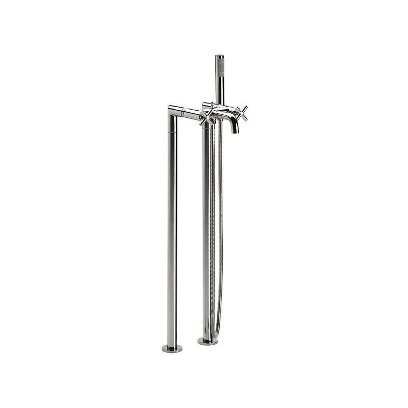 Roca Loft Floor Standing Column Bath Shower Mixer with Handset