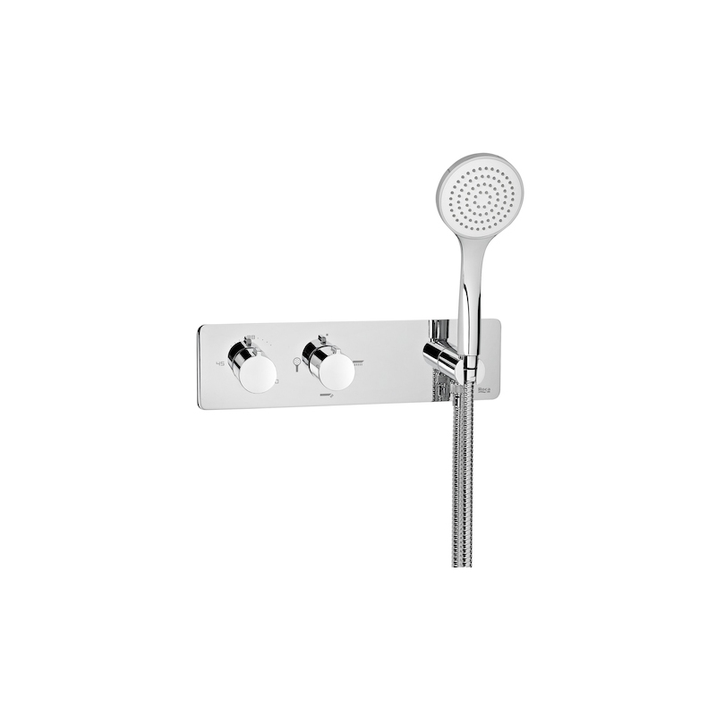 Roca Puzzle Built-In Thermostatic Mixer with 3 Way Diverter