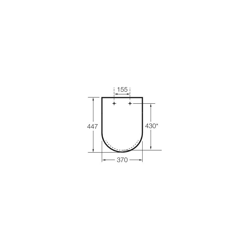 Roca Meridian-N Toilet Seat & Cover