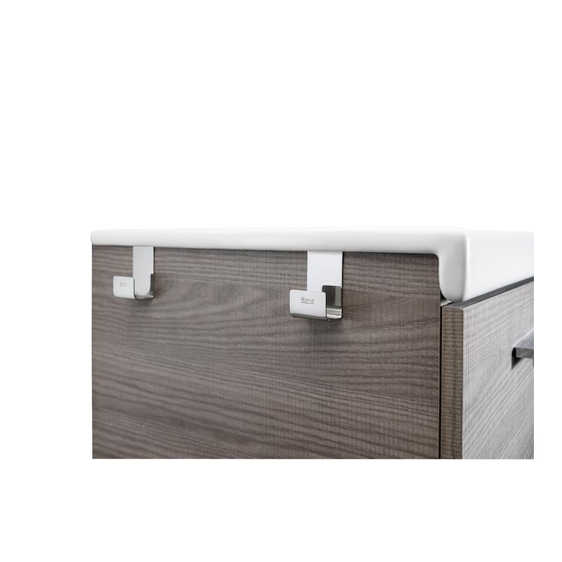 Roca Prisma Set of 2 Polished Towel Hooks for Furniture