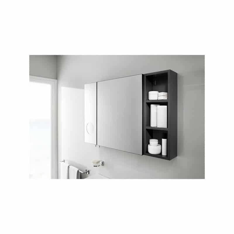 Roca Luna Mirrored Cabinet 500mm Anthracite