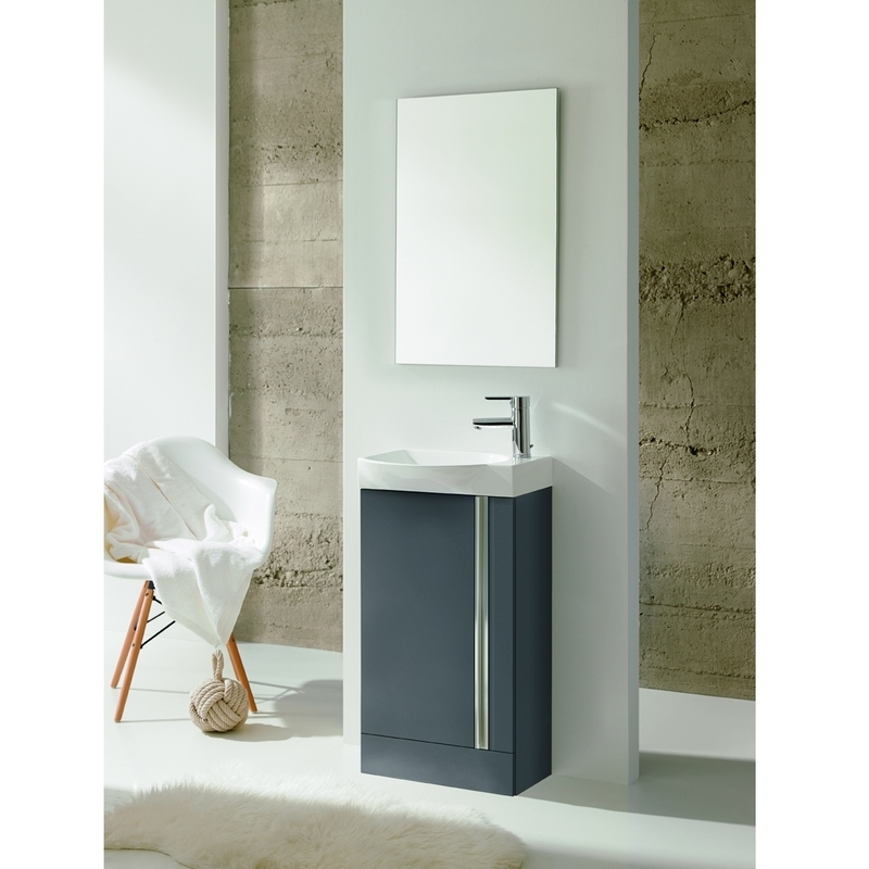 Royo Elegance Floorstanding Cloakroom Unit Pack Gloss Grey