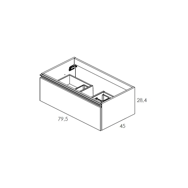 Royo Vida 800mm Anthracite 1 Drawer Wall Unit