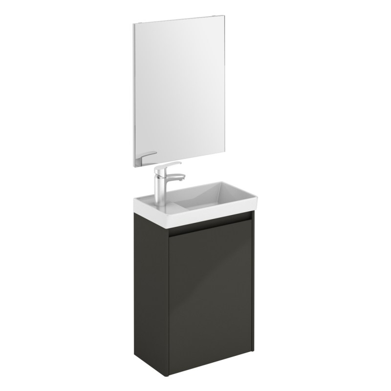Royo Enjoy Wall Hung Cloakroom Unit & Mirror Anthracite