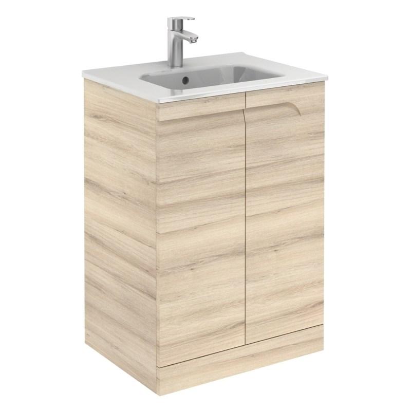 Royo Vitale Light Oak 600mm Floor Standing Basin Unit