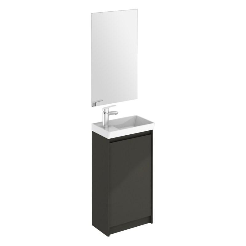 Royo Enjoy Floor Standing Cloakroom Unit & Mirror Anthracite