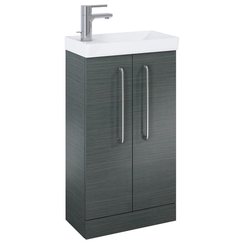 Royo Aquatrend Floorstanding Vanity Unit & Basin 450mm 2 Door Grey