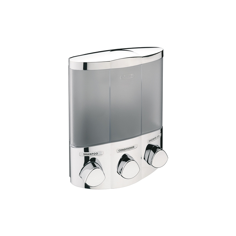Sagittarius 3 Section Corner Soap Dispenser