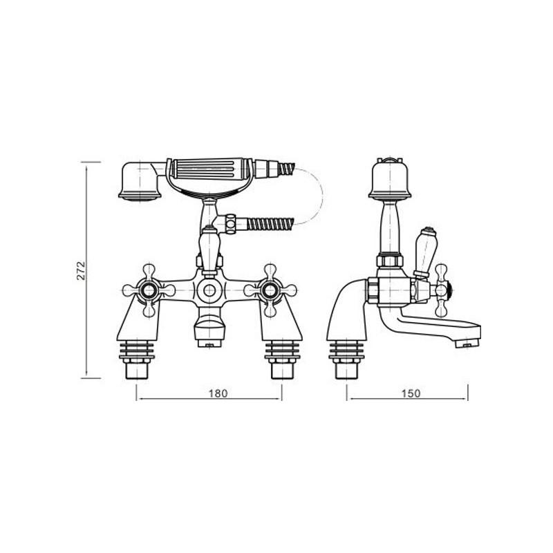 Sagittarius Immortals Demeter Bath Shower Mixer with No. 1 Kit