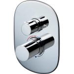 Sottini Basento Thermostatic Shower Mixer with Diverter Oval