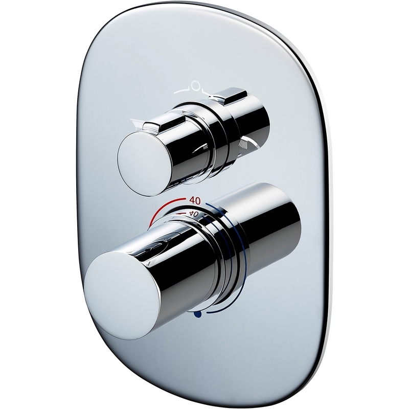 Sottini Basento Thermostatic Built-In Bath Shower Mixer Oval