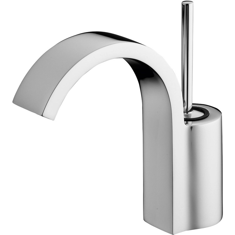 Sottini Mazaro Curved Spout Basin Mixer with Waste