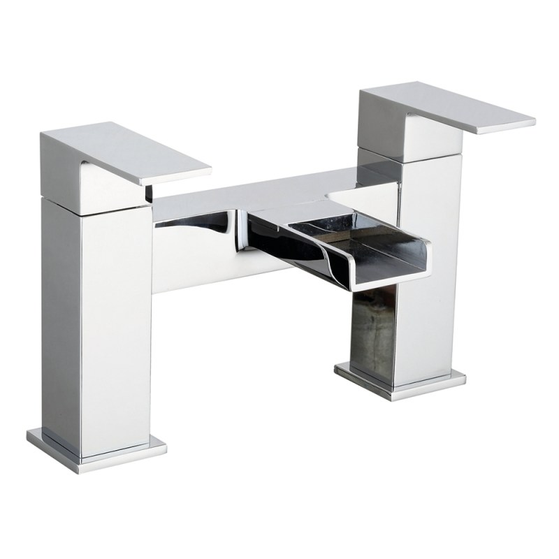 Sterling Cosmic Deck Mounted Bath Mixer Chrome
