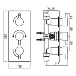 Sterling Stellar 3 Outlet Shower Mixer Round Controls