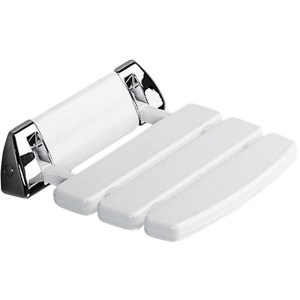Synergy Deluxe Hinged White & Chrome Shower Seat