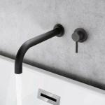 Synergy Tec Studio G Black Single Wall Mounted Basin Mixer Tap