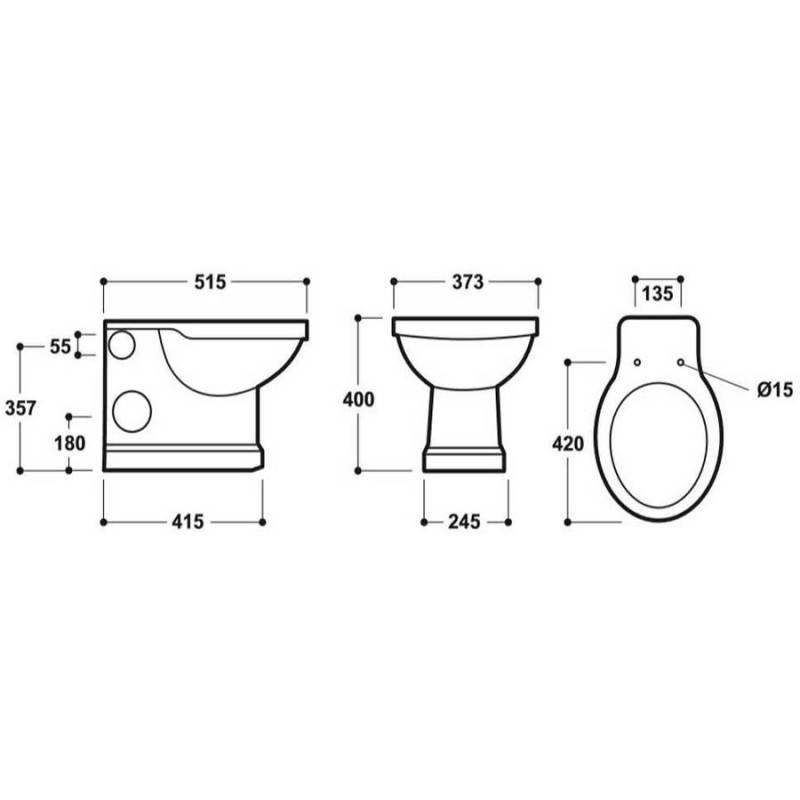 Synergy Henbury Back To Wall WC Pan