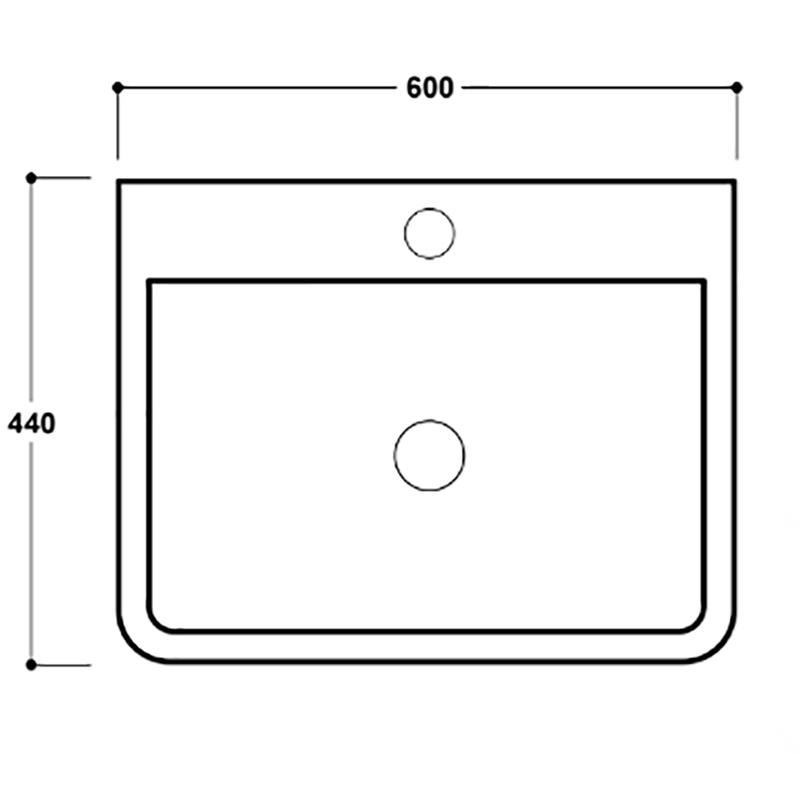 Synergy Henbury 600mm 1 Tap Hole Basin