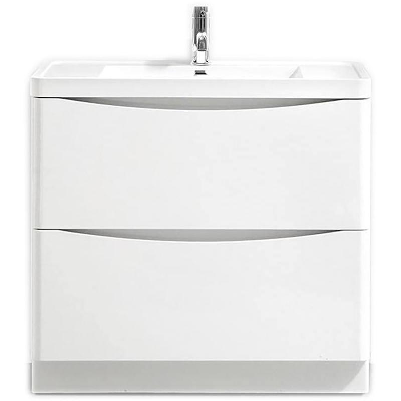 Synergy Kiev 900mm White Gloss Large Vanity Unit