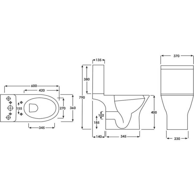Synergy Marbella Close Coupled Cistern