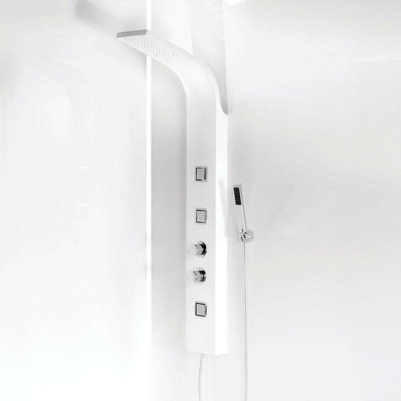 Synergy Aluwhi White Shower Tower