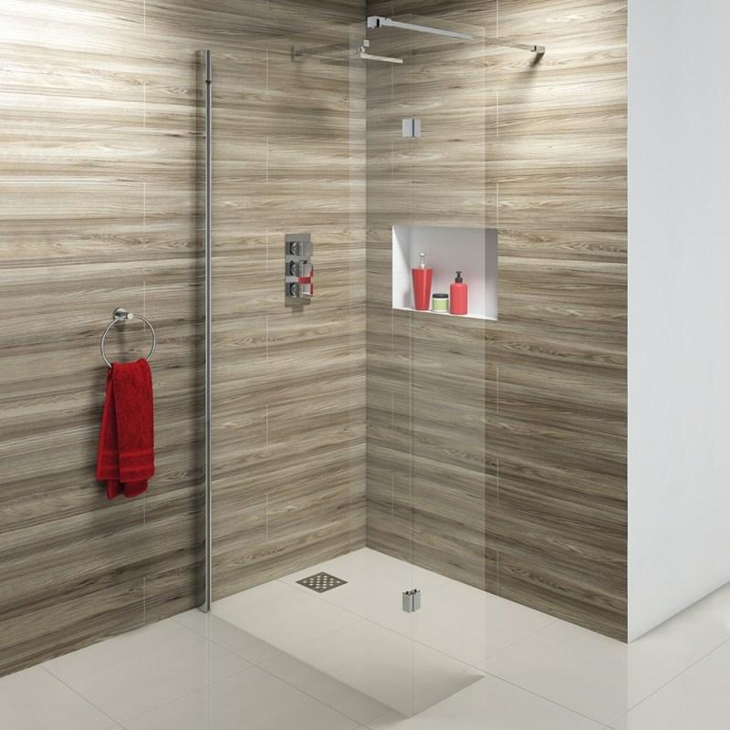 Synergy Vodas 10 1000 x 2000mm Clear Wetroom Panel