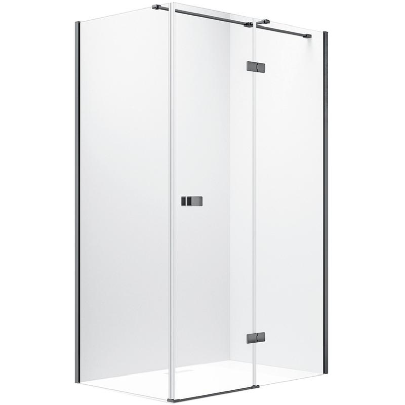 Synergy Vodas 8 Stella 1600 x 2000mm Right Hand Black Hinged Door