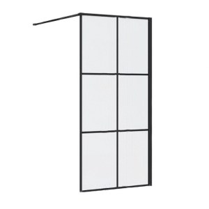 Synergy Vodas 8 Stella 1000mm Black Wetroom Panel