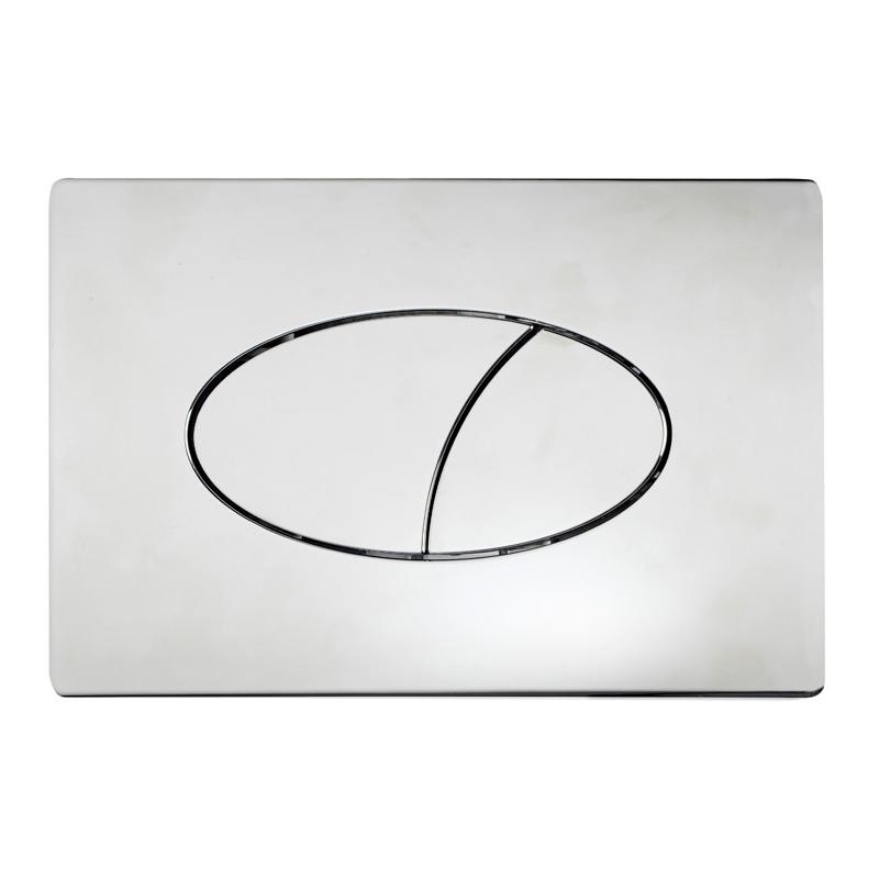 Tavistock Ellipse Dual Flush Plate Chrome
