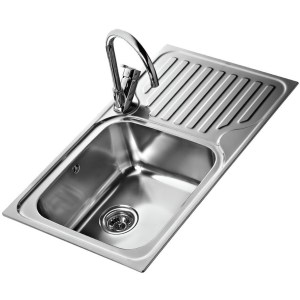 Teka Classic 1 Bowl & Drainer RHD Inset Sink Stainless Steel